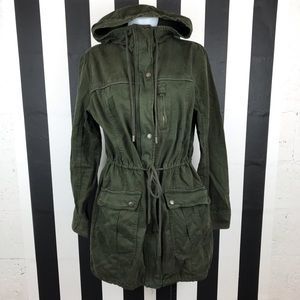 Abercrombie & Fitch Olive Green Utility Parka